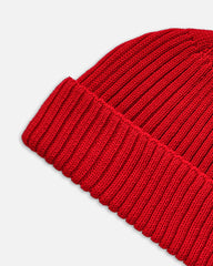 Grain Rib Hat - Red