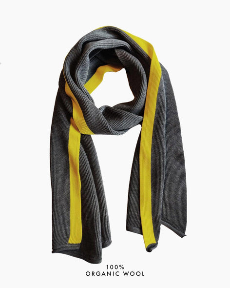 Coastal Stripe Scarf - Grey