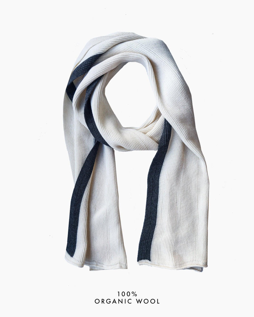 Coastal Stripe Scarf - White