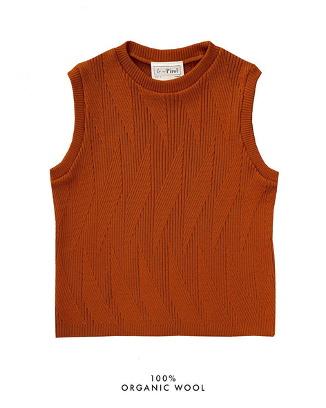 Painters Brush Vest - Burnt Orange