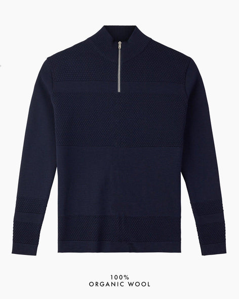 Wex Sailor Half-Zip Jumper - Navy