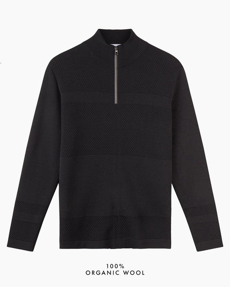 Wex Sailor Half-Zip Jumper - Black