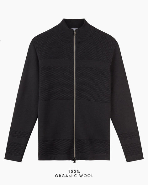 Wex Sailor Zip Cardigan - Black