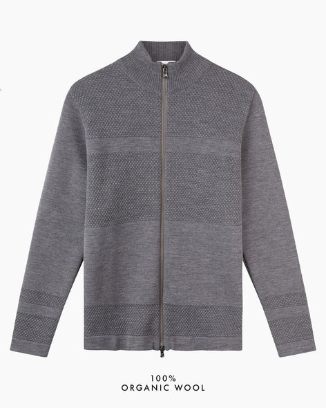 Wex Sailor Zip Cardigan - Grey
