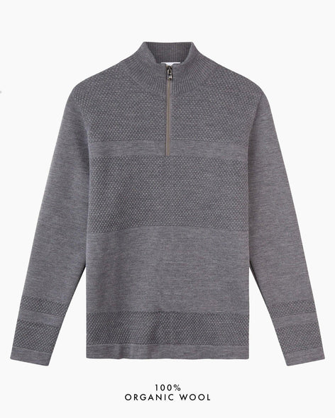 Wex Sailor Half-Zip Jumper - Grey