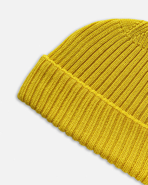 Grain Rib Hat - Yellow