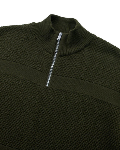 Wex Sailor Half-Zip Jumper - Dark Green (Army)