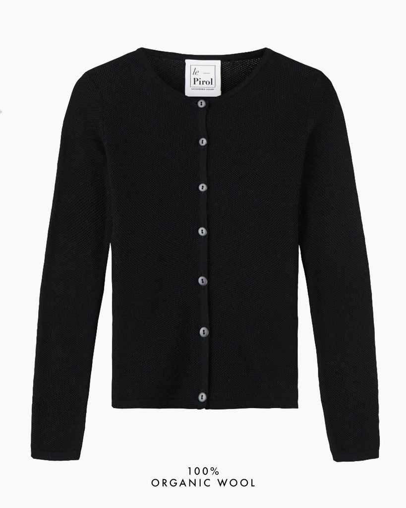 Soft Cloud Cardigan - Black