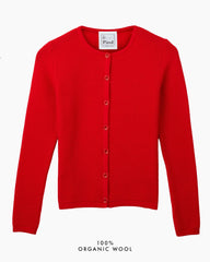 Soft Cloud Cardigan - Red