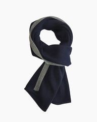 Coastal Stripe Scarf - Navy
