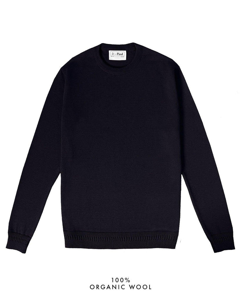 Evergreen Wool Jumper - Navy