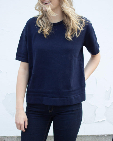 Moonlight Cotton T-Shirt - Navy