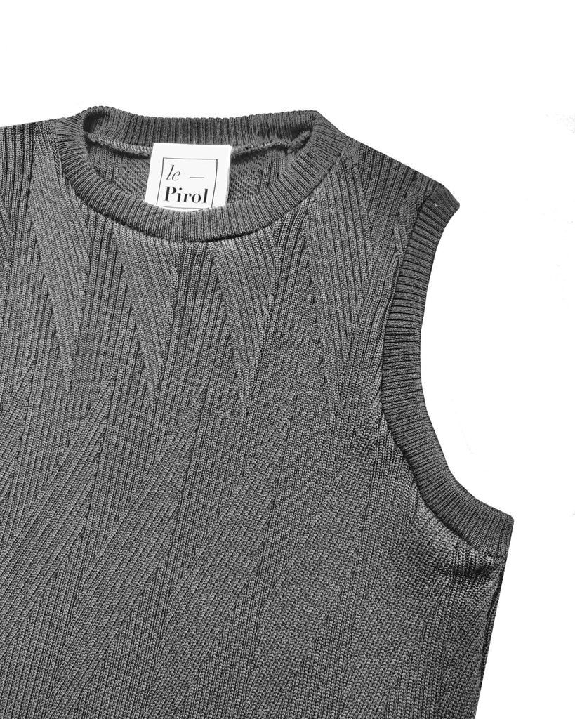 Painters Brush Vest - Grey
