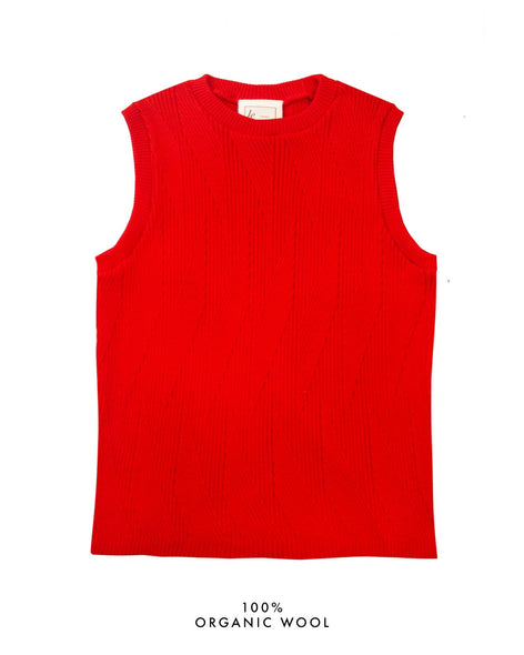 Painters Brush Vest - Red