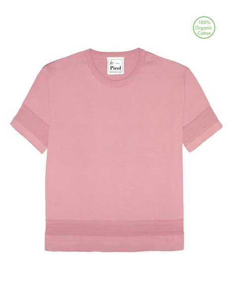 Moonlight Cotton T-Shirt - Rosa