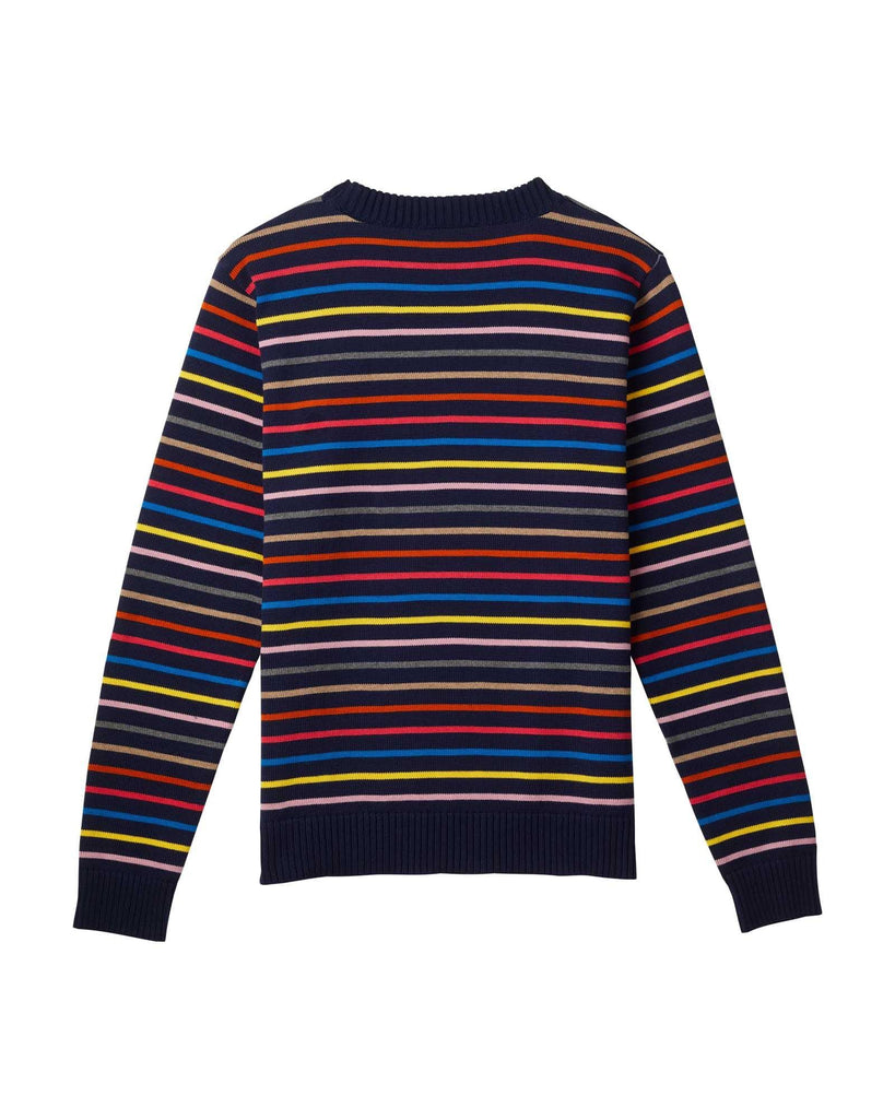 Coastal Stripe Cotton Jumper - Navy/Multi