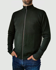 Wex Sailor Zip Cardigan - Dark Green (Army)