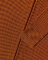 Fiord Seed Long Cardigan - Burnt Orange