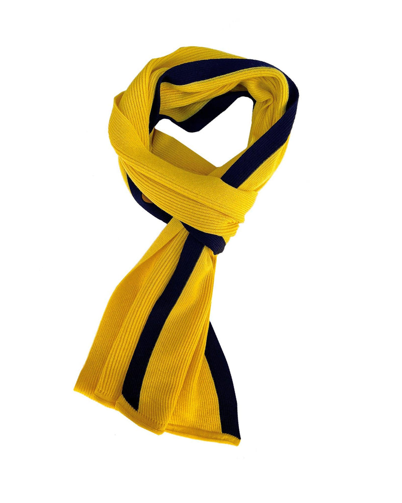 Coastal Stripe Scarf - Yellow