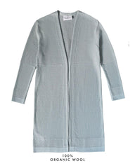 Fiord Seed Long Cardigan - Light Blue