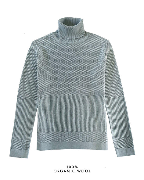 Fiord Seed Turtleneck - Light Blue