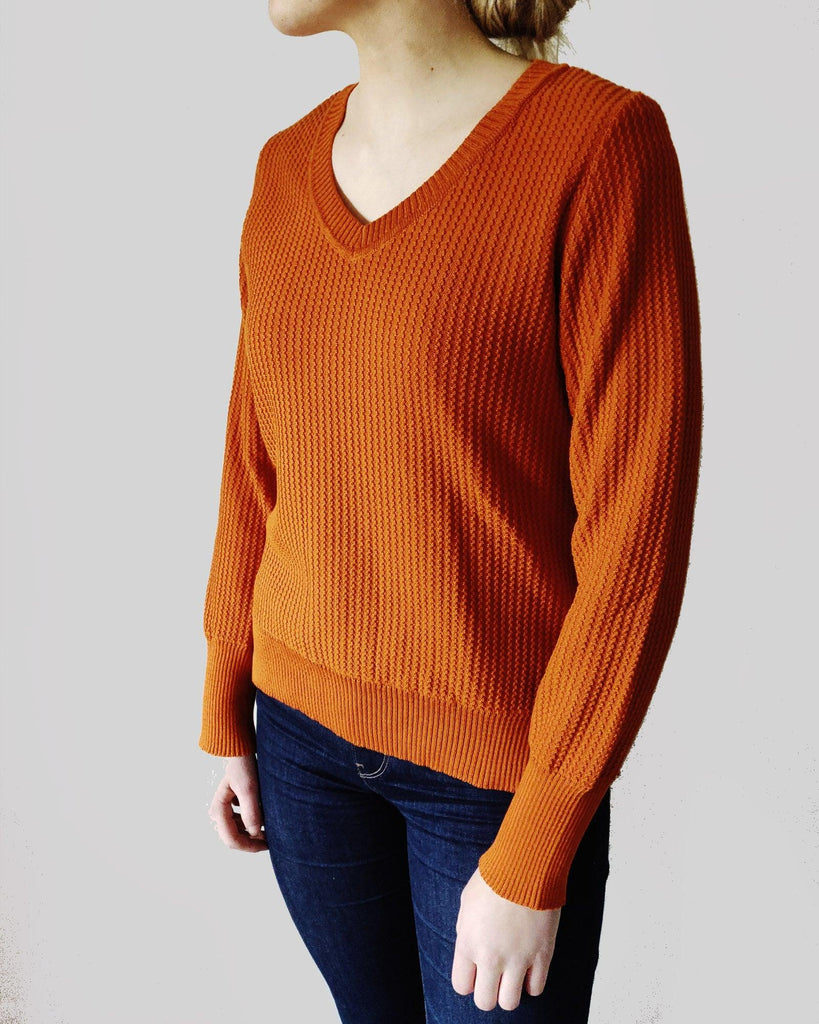 Harvest Cotton Jumper - Burnt Orange