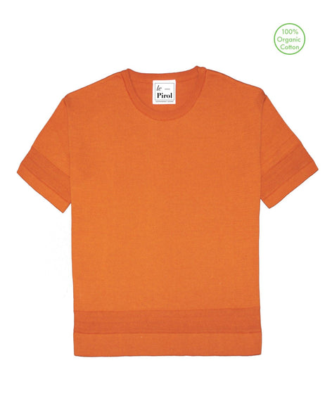 Moonlight Cotton T-Shirt - Burnt Orange