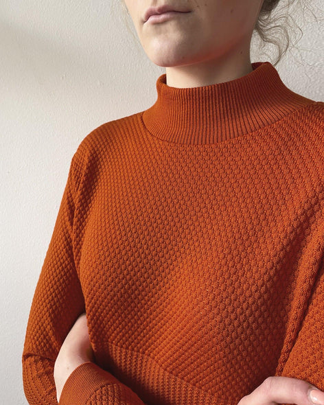 Fiord Seed Dress - Burnt Orange