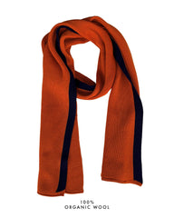 Coastal Stripe Scarf - Burnt Orange