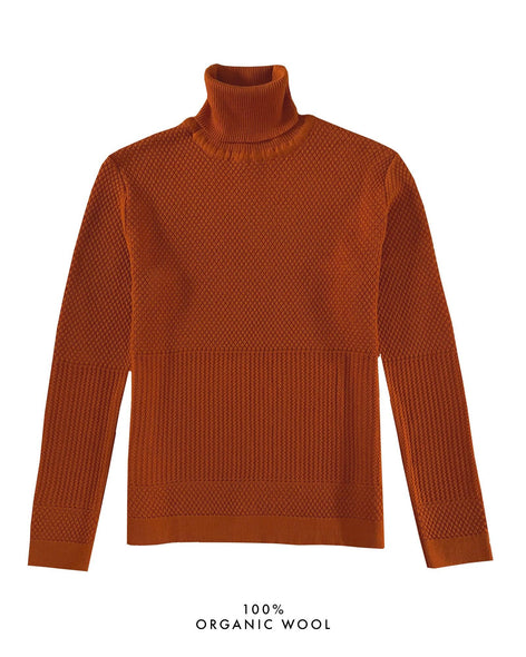 Fiord Seed Turtleneck - Burnt Orange