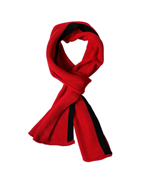 Coastal Stripe Scarf - Red