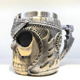Viking Stainless Steel Skull Mug 3D Design