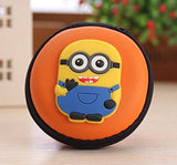 Minion Round Earphone Zipper Pouch & Case