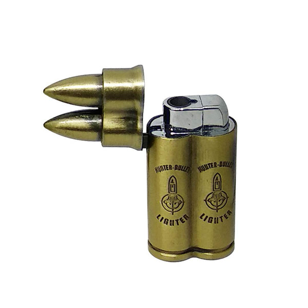 Double bullet shaped lighter