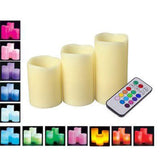Flameless 3 LED Candles multicolor