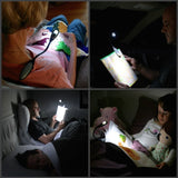 Book lamp with clipon
