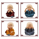 4PCS Little Monk Cute