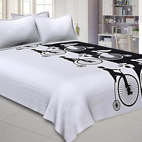 Love Couple Retro Cycle Bed Sheet