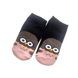 Owl printed ankle socks for women
