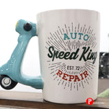 Scooter retro handle coffee mug