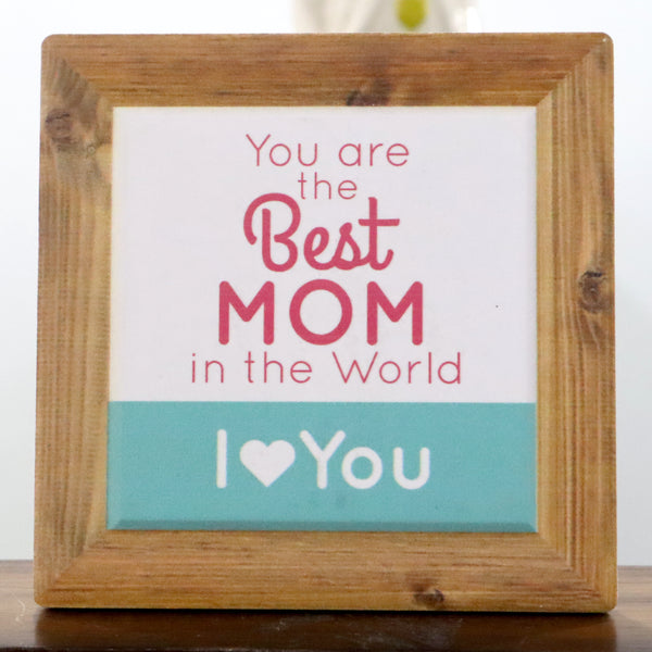 World's best Mom quote tile