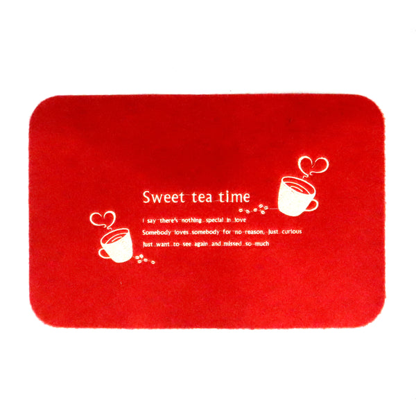 Sweet tea time door mat