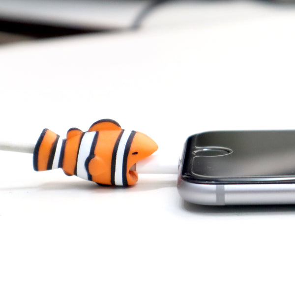 Multicolor fish shaped  iphone cable protector
