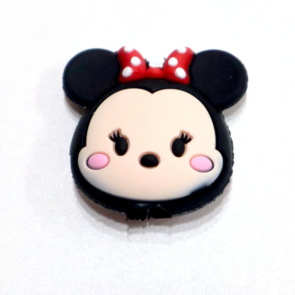 Mouse cartoon head shaped iphone cable protector