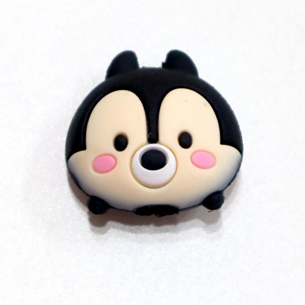 Black bear head shaped iphone cable protector