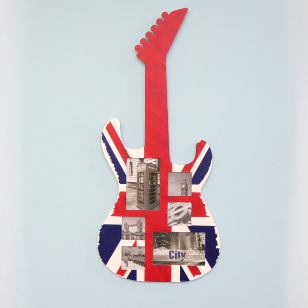 Musical Guitar Shaped Picture Frame