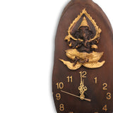 Lord Ganesh wood wall clock