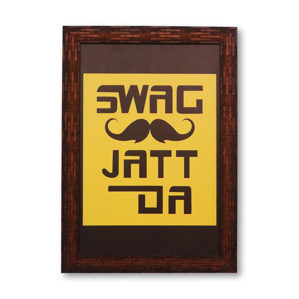 Jatt da swag washable poster with frames