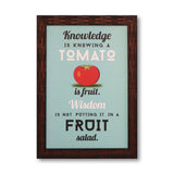 Tomato is fruit washable poster with frame