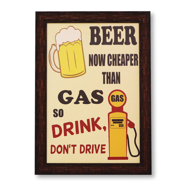 Beer is cheaper washable poster with frames
